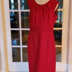 Tahari Red Sheath Dress